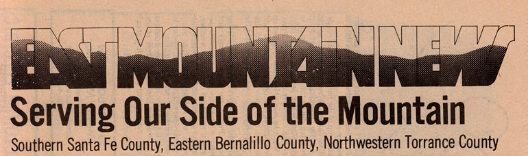 East Mountain News logo, published in Madrid, NM by Rennie & Daniel Quinn